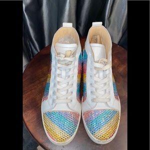 Christian Louboutin rainbowbips Veau Velor sneaker